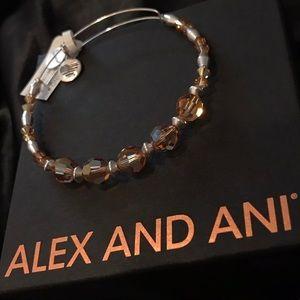 Alex&Ani glow beaded bangle w Swarovski crystals